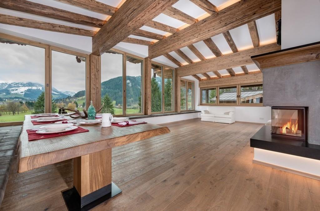 Chalet de luxe en vente en Autriche - pièce à vivre