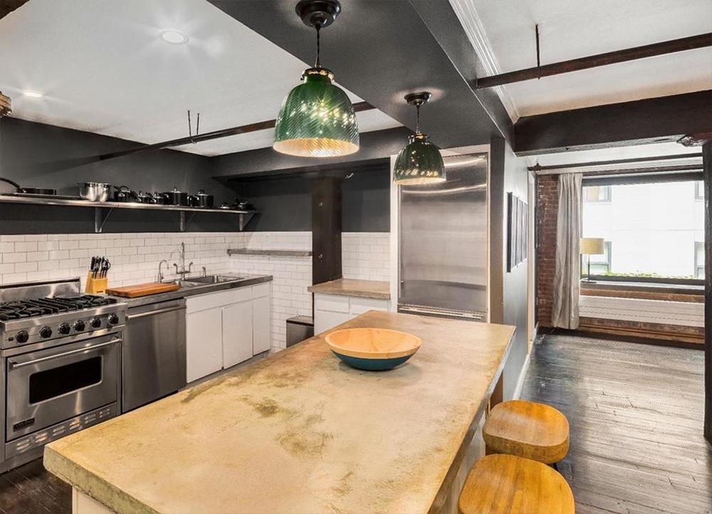 Cuisine design dans appartement de luxe à New York