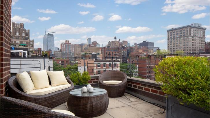 Terrasse de luxe avec vue sur New York
