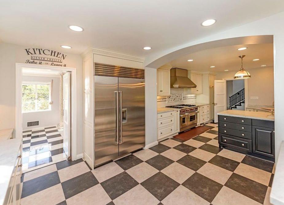 Cuisine design dans une maison de luxe