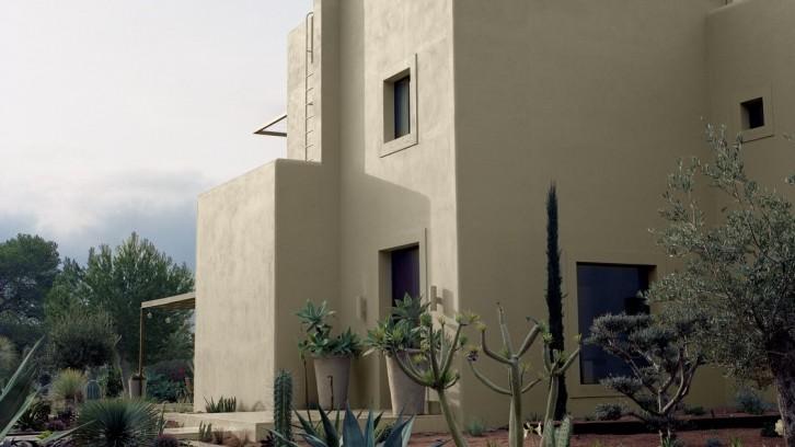 Facade demeure de charme Ibiza